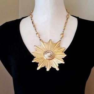 Vintage Accessocraft NYC Burst Statement Necklace
